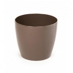 Горшок Магнолия 250мм, цвет темно серо-коричневый