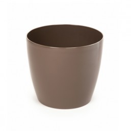 Горшок Магнолия 300мм, цвет темно серо-коричневый
