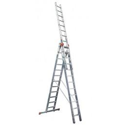 30210409 Ал. лестница Tribilo 3х8 S,  H=2,55/3,7/5,2м (121301)