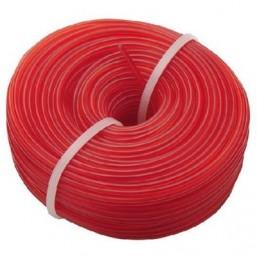 Леска для триммера 2.4 мм, 15 м, красная