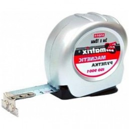 Рулетка Magnetic, 5 м х 19 мм, магнитный зацеп MATRIX 31011
