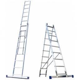30216017 Ал. лестница 2х14, Н=6,7/7,8м  (5214) Алюмет