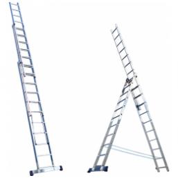 30216038 Ал. лестница 3х15, Н=10,95/11,8м  (6315) Алюмет
