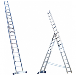30216030 Ал. лестница 3х6, Н=3,4/4,4м  (5306) Алюмет