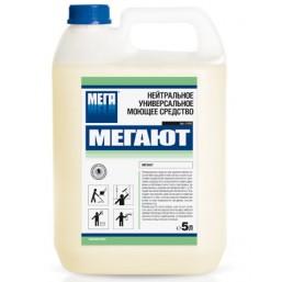 МЕГАЮТ 5л Нейтральное универсальное моющее средство для ручной уборки помещений