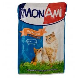 МонАми (консервы для кошек Нежная телятина) паучи ,100г