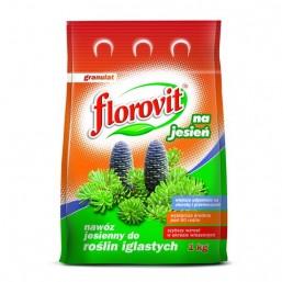 Удобрение гранул для хвойных растений осеннее 1кг.  ФЛОРОВИТ