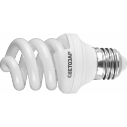 """Энергосберегающая лампа СВЕТОЗАР """"ЭКОНОМ"""" спираль,цоколь E27(стандарт),Т3,яркий белый свет(4000К),80"""