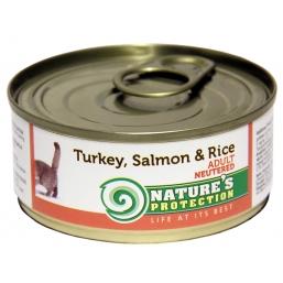 NP Cat Neutered Turkey, Salmon&Rice 100g cat food