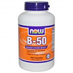 Витамины Now Foods B-50 таблеток (Комплекс Витаминов Б)