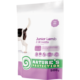 Natures Protection Dog Junior with Lamb 500g dog food