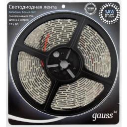 Лента Gauss 4.8W 12V DC бел хол EB311000305
