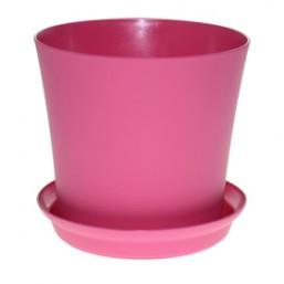 Горшок Фиалка 125мм с поддоном, розовый  Польша