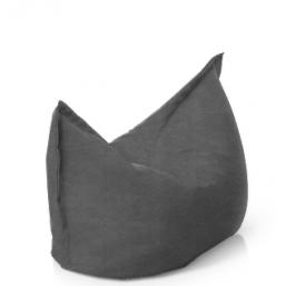 Подушка серая замша