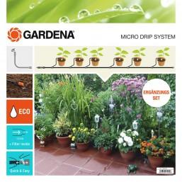 Комплект для продления микрокапельного полива для террас и балконов (на 5 горшков) Gardena 13005-20