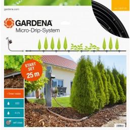 Комплект базовый для наземной прокладки, шланг  сочащийся 4,6 мм х 15 м с фитингами и мастер-блоком Gardena 13010-20