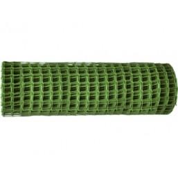Заборная решетка в рулоне 1,2х25 м ячейка 55х58 мм - зелёная   64531