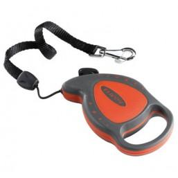 Поводок-рулетка FLIPPY DELUXE CORD MINI  красный - шнур 8 кг