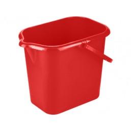 Ведро пластмассовое прямоугольное 16л, красное ТМ Elfe light  92952