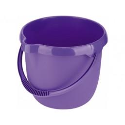 Ведро пластмассовое круглое 12л, фиолетовое ТМ Elfe  92957