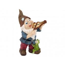 Садовая фигурка Гном со скрипкой QY11584-2