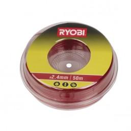 Леска для триммера 2.4 мм, 50 м, красная