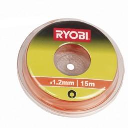 Леска для триммера 1.2 мм, 15 м, оранжевая