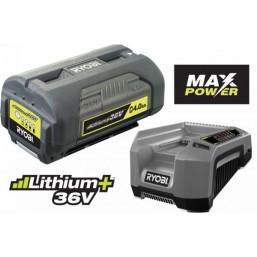 Аккумуляторная батарея 36Вх4.0 Aч, зарядное устройство. RBPK3640D5A