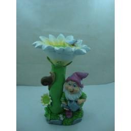 Садовая фигурка Гном у цветка QY11525-2(2)  GS