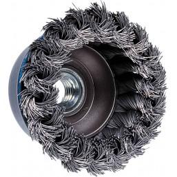Щетка чашкообразная со скруткой Ø80/0,5/М14 (614 055) Protool