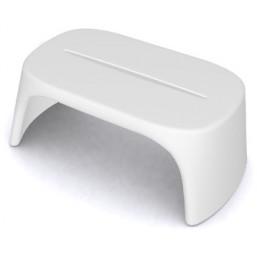 Скамейка пласт. Amelie Panchetta, белая, 108x60см, h-43 (SDAPA108T)   SLIDE Италия