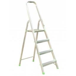 30216051 Ал. лестница-стремянка  4-х ступ, Н=0,82/2,90м  (Ам704) Алюмет