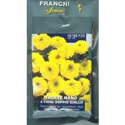 Тагетес карликовый махровый желтый (2 гр)  DBF 353/7   Franchi Sementi