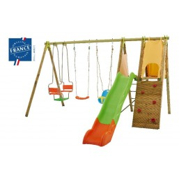 30014251 Детский комплекс (1горка+ стена+ 2качели+ лодочка) TE905P1