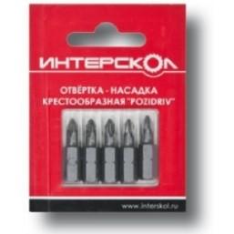 """Отвертка-насадка крестообразная """"Pozidriv"""" РZ2 25мм (5шт) Интерскол 2040402500020"""