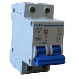 Автоматический выключатель DZ47 2P C 63 Chint