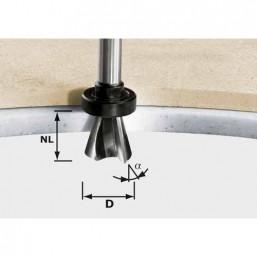 Фреза для профил. фасок HW с хв.12 мм HW D28/15° ss S12