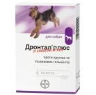 Дронтал + таблетки против глистов со вкусом говядены для собак
