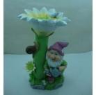 Садовая фигурка Гном у цветка QY11525-2(Р2 С2)