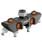 Распределитель 4-х канальный 26,5 мм (G3/4)-33,3 мм (G1) и 21 мм (G1/2)-26,5 мм (G3/4) Gardena 08194-20.000.00