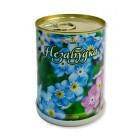 Незабудка цветок в банке BONTILAND (метал. банка, универсальный грунт, семена, высота-9,8см, диаметр-7,8см)