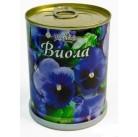 Виола цветок в банке BONTILAND (метал. банка, универсальный грунт, семена, высота-9,8см, диаметр-7,8см)