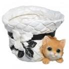 Горшок Котенок в шляпке HP091210-1(5)  GS