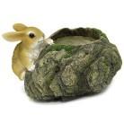 Горшок Заяц на камне HA07032(Р3)