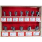 Набор фрез для кромочно-петлевого фрезера от 10 - 22 мм (12 шт.) 2100900600001 Интерскол