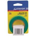 """Изолента STAYER """"PROFI"""" зеленая ПВХ, на карточке, 15мм х 10м х 0,18мм"""