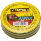 "Изолента STAYER ""MASTER"" желто-зеленая, ПВХ, 5000 В, 15мм х 10м"
