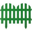 """Забор декоративный GRINDA """"ПАЛИСАДНИК"""", 28x300см, зеленый"""