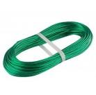 Трос металлополимерный  зеленый ПР-2.0, (моток 20м.п.)   СИБРТЕХ  47645