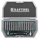 """Набор KRAFTOOL """"INDUSTRY"""" Биты усиленные для высоких нагрузок, с двумя адаптерами, 44 предмета"""